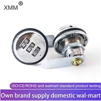 Factory Supply Round Cabinet Combination Lock Tool Box Lock Zinc Alloy Fixed Furniture Lock with XMM-5022