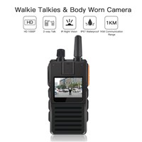 ONETHINGCAM WiFi Body Camera for Security Police Camera&4G Walkie-Talkie AIO Full HD 1296P 30fps 32G Memory