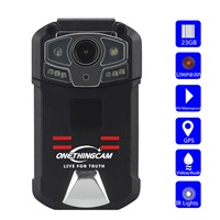 ONETHINGCAM Long Time WiFi Body Camera Police Camera Full HD 1296P 30fps 32G Memory Have 130 Degree Angle Lens with GPS