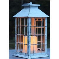 Moden Painted Metal Lantern with LED Candle