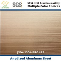 Brushed Anodized Aluminum Sheet for Interior Decoration, Metal Building Facade Material, Metal Ceiling Material