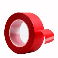 Colored Crepe Paper Painters 3M Automotive Supplier 18 Mm Red Car Paint Masking Tape