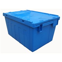 600*400*315mm Wholesale Stackable Logistic Crates Plastic Turnover Box with Lid for Storage & Moving