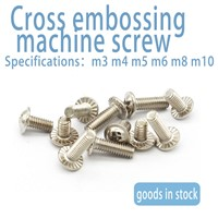 Stainless Steel Round Head Cross with Pad Embossed Anti-Skid Tooth Machine Screw M3m4 with Pad Machine Wire