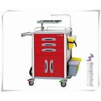 Central Lock Medical Cart Emergency Trolley