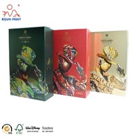 High Quality Custom Printing Wine Packaging Embossed Logo Whisky Paper Gift Box