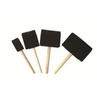 GBP Foam Brushes with Wooden Handle