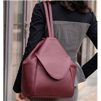 2020 New Natural Cowhide Leather Custom Ladies Backpack Women's Bags Handbags
