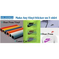 Make Any Vinyl Sticker by Laser on Shirt