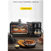 Three in One Toaster Breakfast Machine Multifunctional Breakfast Machine Household Oven Breakfast Maker