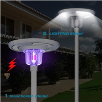 Eco-Friendly Solar Power Outdoor Garden Courtyard Light with Mosquito Fly Insect Killer Lamp Remote Controller