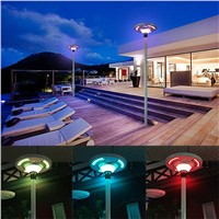 Factory Supply UFO Solar Garden Light Decorative Pole Street Light with Remote Control