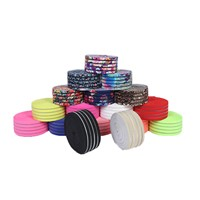 Clothing Home Textile Polyester Ribbon Fish Silk Polyester Ribbon Color Jump Band Printing Elastic Rope Rubber Wholesale