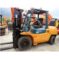 Used TOYOTA FD50 5ton Triplex Mask 4.5m Forklift On Sale