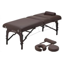 Portable Massage Table, 3 Section Wooden Massage Table
