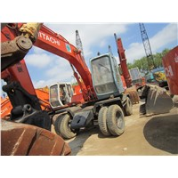 Used HITACHI EX100WD 10ton Wheel Excavator On Sale