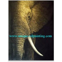Elephant Oil Painting, Oil Painting