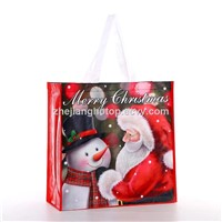 Custom Printed Eco Friendly Christmas Gift Laminated Promotional Non Woven Tote Fashion Shopping Bag