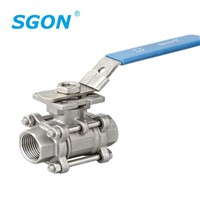 3PC Threaded Ball Valve with ISO5211 Mounting Pad
