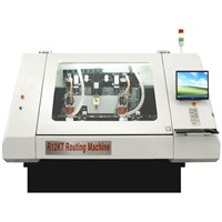 PCB Single/Double Side 2-Spindles 60K Rpm Speed CNC Routing Machine
