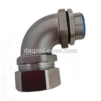 Flexible Conduit Elbow Connectors 90 Degree Stainless Steel Liquid Tight Connectors