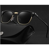 European & American Polarizing Sunglasses Men'S Metal Retro Big Frame Sunglasses Special Toad Glasses for Driving Spor