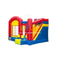 Small Bouncy Castle with Slide Nylon Cloth Material Inflatable Bouncer Combo Slide Jumping Castle