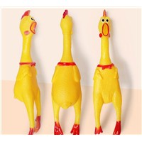 Factory Direct Sales of Enamelled Large-Size Chicken Tease Vent Dog Toys Net Red Scream Chicken Voice Pet Toys