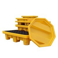 Spill Pallet Multi-Size Eco-Friendly Poly Secondary Containment Pallets Spill Kits for Oil Drum