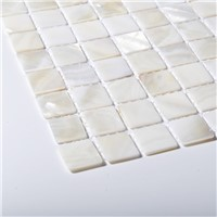 100% Natural Mother of Pearl Mosaic on Mesh Full White Color China Factory Direct Offer