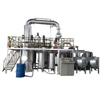 Waste Plastics Oil Refinery Vacuum Distillation for Diesel Fuel Regeneration