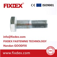 China Manufacturing Good Price Grade 8.8 Bolt & Nut Screw Washer DIN931 DIN933 Metric Stainless Steel Galvanized Hex b