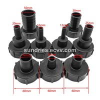 "IBC Fittings DIN61 2"" IBC Tank Adapter Plastic Drum Coupling/Adaptor with 1/2""; 3/4""; 1""; 1-1/2""; 1-3/4"" & 2"" Hose Barb"