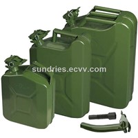 NATO Metal Petrol Jerry Can Military-Spec Fuel Tank Army Gasoline Diesel Storage Container 5L/10Lt/20Ltr