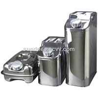 Stainless Steel Jerry Can Diesel Fuel Petrol Water Carrier Oil Storage Drum for Boat/4WD/Car/Motorbike