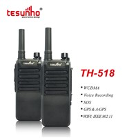 WiFi WCDMA GSM SIM Card Handheld Radio TH-518