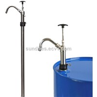 5 Gallon Stainless Steel & PTFE Vertical Lift Pail Pump Dispensing MEK, Toluene, Xylene, Lacquer Thinner, Acetone