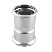 STAINLESS STEEL PRESS FITTING EQUAL COUPLING