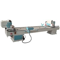PVC UPVC Profile Window Door Double Head Mitre Cutting Saw Machine