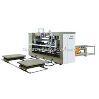 Semi Auto Big Size Two Piece Joint Box Corrugated Carton Box Stitcher Nailing Machine