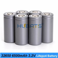 Hubats 32650 Lifepo4 3.2v 6500mah 33A 55A Discharge Bike Battery & Screwdriver Battery Powered LED