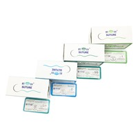 Surgical Suture Suture with Needls Polyglycolic Acid Polyglactin Plain Catgut Chromic Catgut Silk Polypropylene