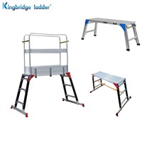 Fiberglass Aluminum Car Washing Work Platform with 1230mm Standing Height with Guardrail