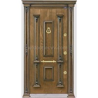 Turkey style steel wooden armored doors