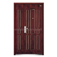 Steel wooden security doors