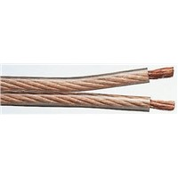 Bedea 100m Transparent 2 Core Speaker Cable, 2.5 mm2 CSA PVC Sheath Material in PVC Insulation