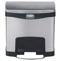 Rubbermaid Commercial Products Slim Jim 15L Chrome Pedal Stainless Steel Dustbin