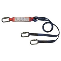 Protecta 1.5m Fall Arrest Shock Absorbing Lanyard Screw Karabiner Twin