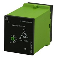 Tele Phase, Voltage Monitoring Relay With DPDT Contacts, 230  400 V Supply Voltage, 3 Phase, Self Powered