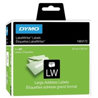Dymo on White Label Printer Tape & Label